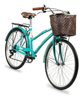 Bicicleta Olmo R26 Paseo 6v Dama Ameliet18 Verde