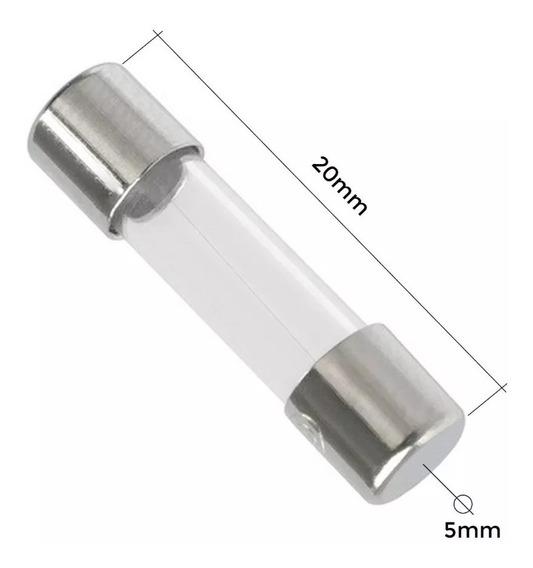 100 Peças - Fusível De Vidro Ag20 5x20mm - 0,3a