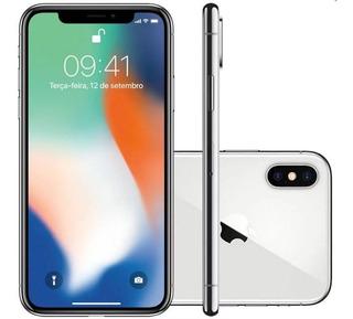 Apple iPhone X 256gb Tela Oled 5.8 12mp/7mp Ios - Prata