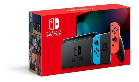 Nintendo Switch 32gb Neon Novo Edição Hac-001 (-01) Retir Hj