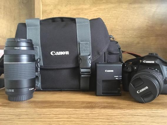 Kit Canon (t5 + 18-55mm + 75-300mm + 35mm + Bolsa + Cartões)