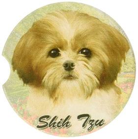 E & S Pets Tan & White Shih Tzu Práctico De Costa, 3 X 3