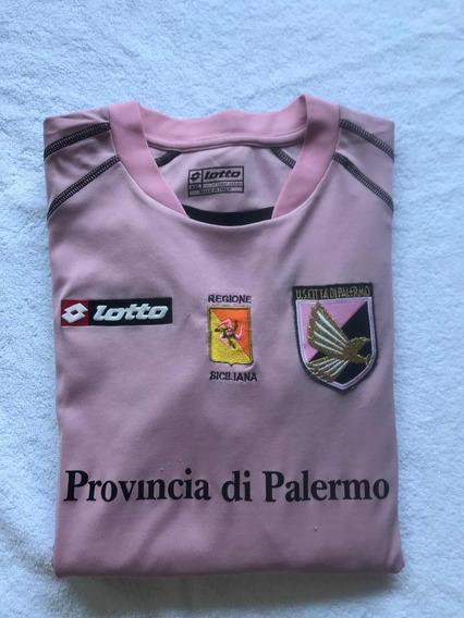 Camiseta Del Palermo De Italia Lotto Original Con Número,