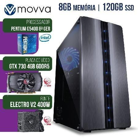 Computador Gamer Mvxp Pentium G5400 3.7ghz 8ª Ger. Mem. 8gb