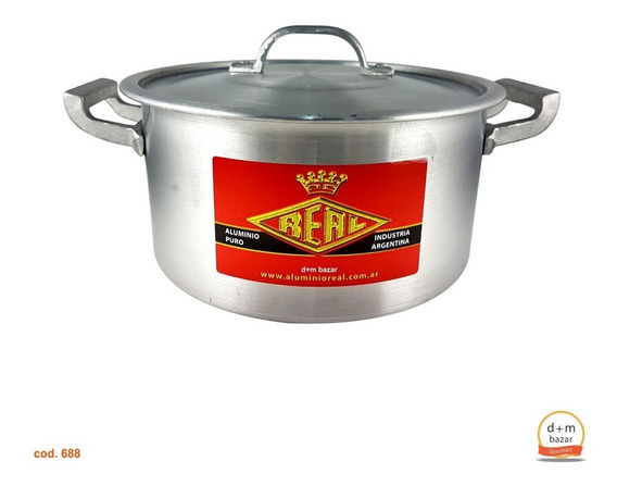 Cacerola De Aluminio N° 24 Gastronomica Capacidad 6 Litros