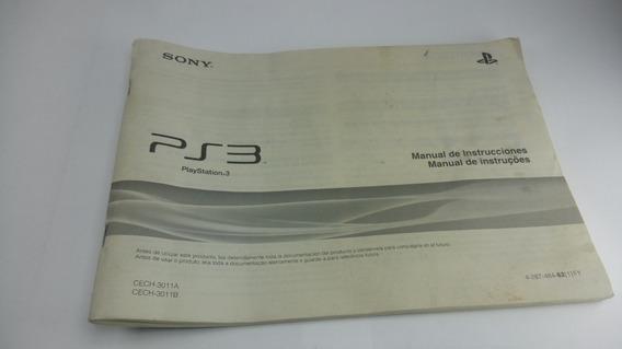 Manual Ps3 Playstation 3 Original Cech-3011b Sony Cech-3011a