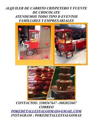 Alquiler Maquina De Crispetas.algodon.fuente De Chocolate Y