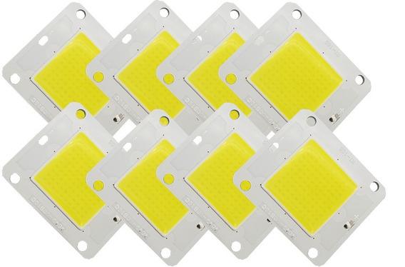 5 Chip Led 50w Branco Frio P/ Reposição Refletor 5000 Lúmens