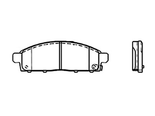 Juego Balatas L200 Diesel Doble Cabina 08-17 Del Delantera