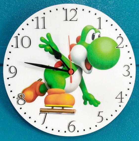 Relógio Parede Yoshi Super Mário Nintendo 64 Jogo Game 30cm