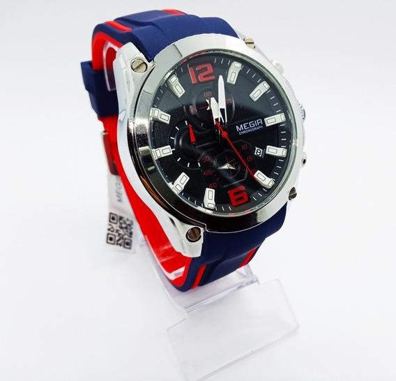 Relógio Masculino Megir Esporte Luxo Cronógrafo Promoção