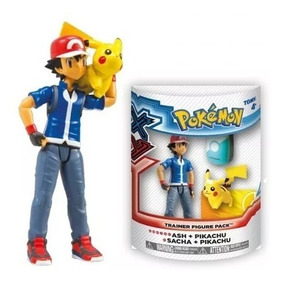 Pokémon - Boneco Xy Ash E Pikachu Tomy Nintendo - Original