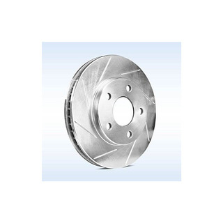 [front] Powersport Slotted Brake Rotors And Semi Met Pads Bl