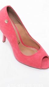Sapato Peep Toe Rosé Vizzano