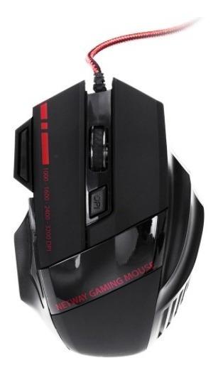 Mouse Usb P/ Jogos / Triple Fire Key / 7 Botões - 4 Pçs