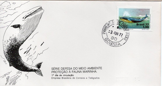 Fdc 1977 - Proteção À Fauna - Baleia Azul - Selos #128