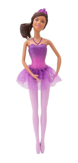 Boneca Barbie Bailarina Vestido Roxo Dhm41 Mattel Original