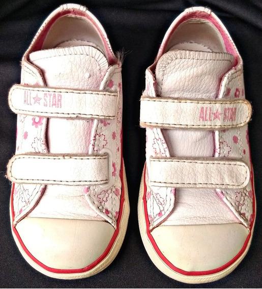 Converse All Star Infantil Couro Tamanho 23!!!