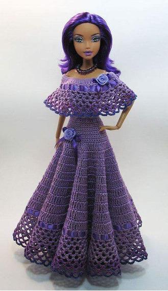 Vestido De Crochê Para Boneca