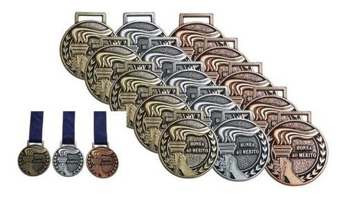 Imagem 1 de 9 de Medalha Honra Ao Mérito Metal 55mm +grossa +qualidade 5un
