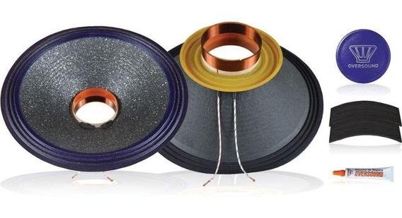 Kit Reparo Alto Falante 12 Steel 400 / 8 Ohms - Oversound