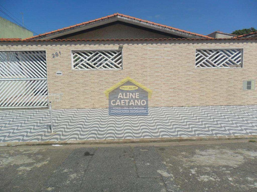 Imagem 1 de 21 de Casa - 4 Dorms, Solemar, Praia Grande - R$ 530 Mil - Vact1345