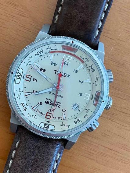 Relógio De Pulso Timex Modelo 1854 Pulseira Em Couro