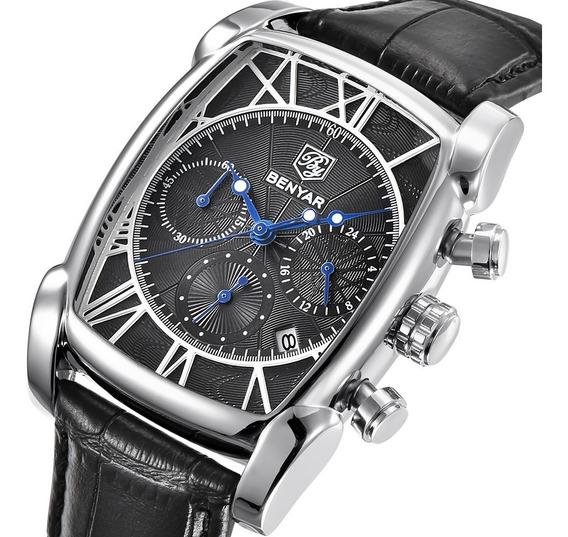Homens Relógio De Quartzo Negócio Benyar Preto