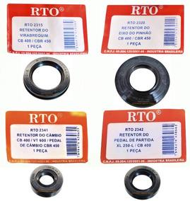 Kit Retentor Virabrequim+pinhão+cambio+partida Cb400/cbr450