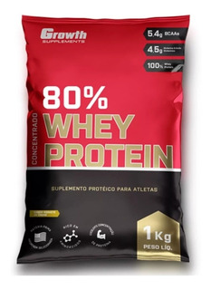 Whey Growth 80% Concentrado 1kg Top