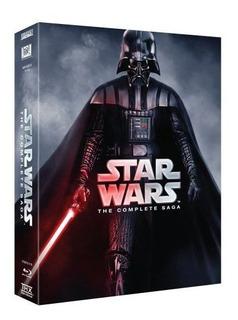 Set De 9 Dvd Star Wars, Saga Completa Blu- Ray, Reg.a/b/c