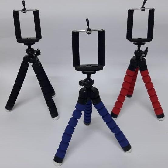 Mini Tripé Flexível Ajustável Móvel Celulares/câmera/+ Caixa
