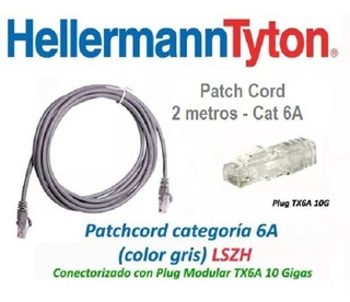 Cable De Red Patch Cord Hellermann Tyton 2m 7pies Cat 6a