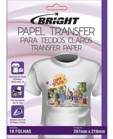 Papel Transfer Para Tecidos Claros Em Papel A4