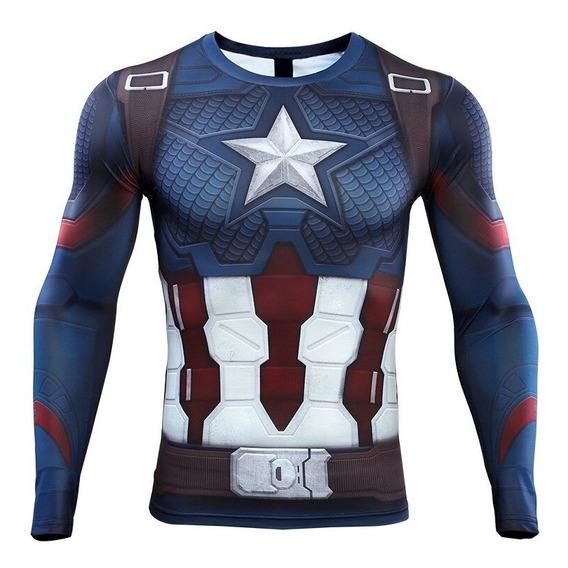 Capitán America Endgame Playera Impresión 3d Envío Gratis
