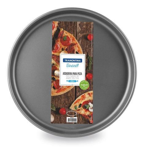 Imagen 1 de 5 de Asadera Pizza Tramontina Teflon 35 Cm Pizzera