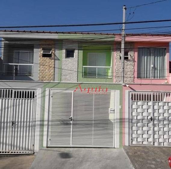 Sobrado Com 3 Dormitórios À Venda, 100 M² Por R$ 450.000 - Vila Pires - Santo André/sp - So1095
