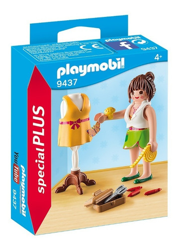 Imagen 1 de 6 de Playmobil Diseñadora De Moda 9437 Ropa Educando