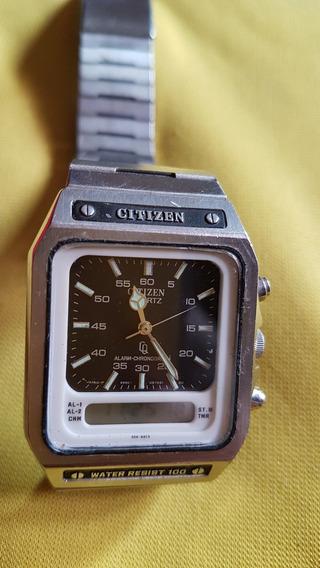 Reloj De Pulsera Vintage Citizen Quartz Alarm Chronograph