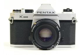 Câmera Analógica Pentax K1000 + Lente 50mm 1:2