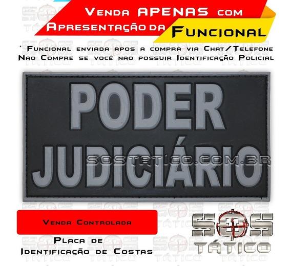 Poder Judiciário Placa De Costas Emborrachada Com Fixadores