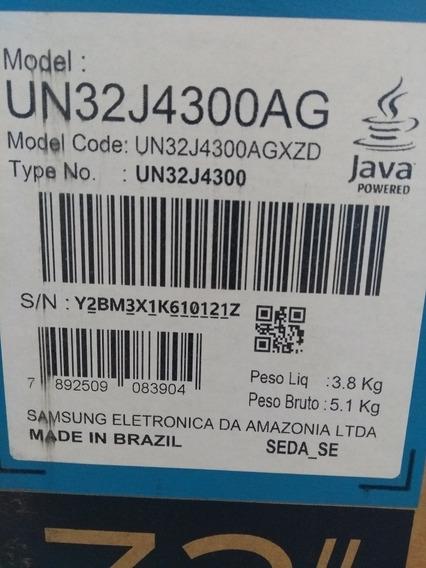 Tv Samsung Un32j4300ag(tela Quebrada)+controle+fonte
