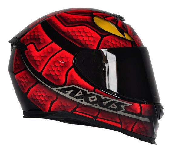 Capacete Moto Axxis By Mt Snake Serpente Vermelho Brilho
