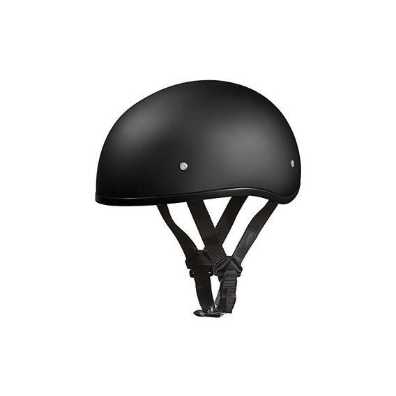 Punto. Daytona Skull Cap W / O Visor- Negro Duro