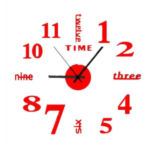 Reloj Pared Decorativo Moderno 3d Adhesivo Sala Cocina