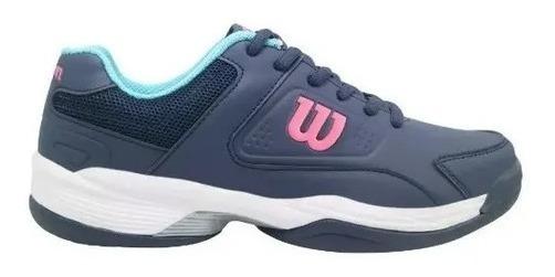 Zapatillas Wilson Game Mujer Tenis Padel Azul/fucsia