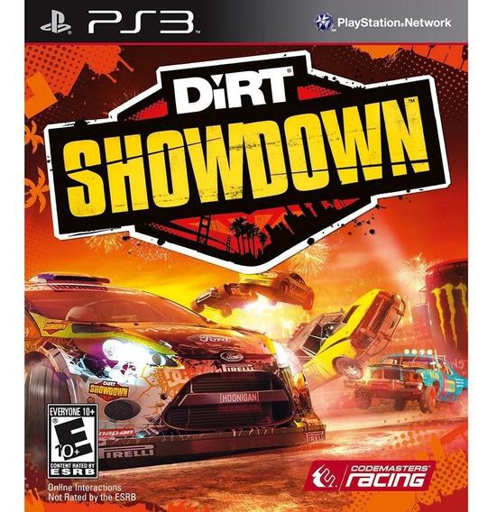 Dirt Showdown (mídia Física) - Ps3 (novo, Lacrado)