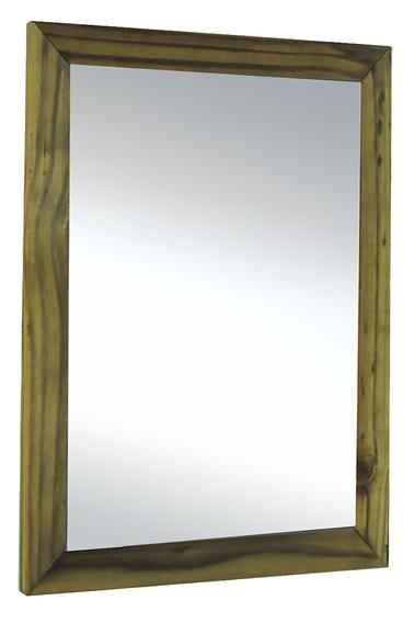 Espelho Banheiro Rustico Quarto Sala Madeira Maciça
