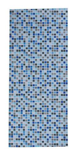 Imagen 1 de 7 de Tapete Baño Antideslizante Azul 65x150 Cm
