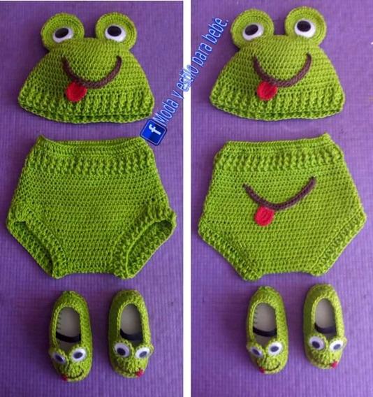 Disfraz De Ranita Para Bebé Tejido Para Sesión De Fotos
